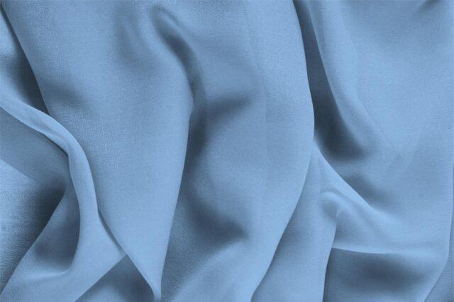 Cornflower Blue Silk Georgette Plain fabric for Ceremony Dress, Dress, Party dress, Shirt, Underwear.