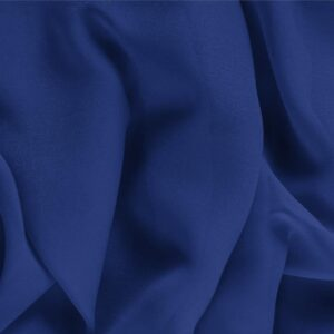 Zaffiro Blue Silk Georgette Plain fabric for Ceremony Dress, Dress, Party dress, Shirt, Underwear.