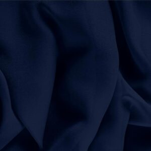 Navy Blue Silk Georgette Plain fabric for Ceremony Dress, Dress, Party dress, Shirt, Underwear.
