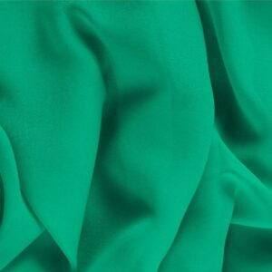 Bandiera Green Silk Georgette Plain fabric for Ceremony Dress, Dress, Party dress, Shirt, Underwear.
