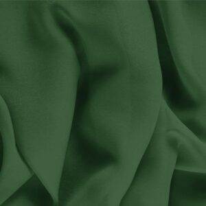 Abete Green Silk Georgette Plain fabric for Ceremony Dress, Dress, Party dress, Shirt, Underwear.