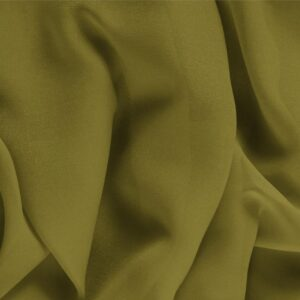 Foglia Green Silk Georgette Plain fabric for Ceremony Dress, Dress, Party dress, Shirt, Underwear.