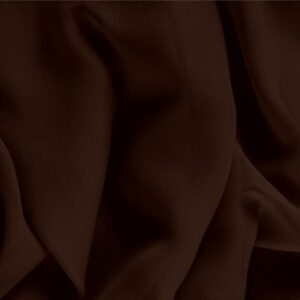 Caffe Brown Silk Georgette Plain fabric for Ceremony Dress, Dress, Party dress, Shirt, Underwear.