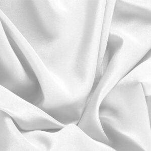 Ottico White Silk Crêpe de Chine Plain fabric for Dress, Shirt, Underwear.