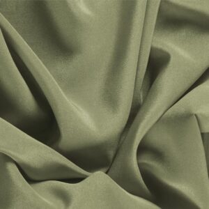 Oliva Green Silk Crêpe de Chine Plain fabric for Dress, Shirt, Underwear.