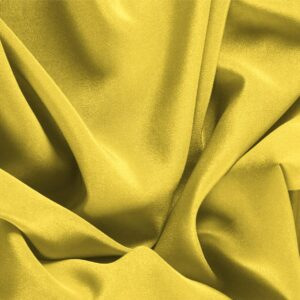 Primula Yellow Silk Crêpe de Chine Plain fabric for Dress, Shirt, Underwear.