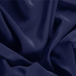 Marine Blue Silk Crêpe de Chine Plain fabric for Dress, Shirt, Underwear.