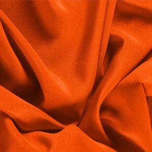 Coral Orange Silk Crêpe de Chine Plain fabric for Dress, Shirt, Underwear.