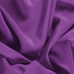 Ametista Purple Silk Crêpe de Chine Plain fabric for Dress, Shirt, Underwear.