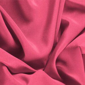 Tissu Uni Crêpe de Chine Fuchsia Petunia en Soie pour Chemise, Lingerie, Robe.