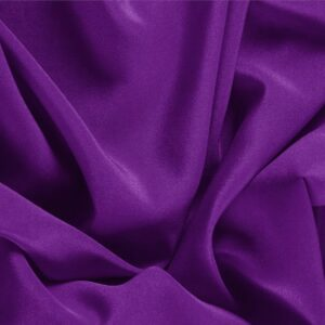 Mirtillo Purple Silk Crêpe de Chine Plain fabric for Dress, Shirt, Underwear.