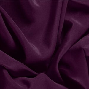 Prugna Purple Silk Crêpe de Chine Plain fabric for Dress, Shirt, Underwear.