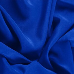 Elettrico Blue Silk Crêpe de Chine Plain fabric for Dress, Shirt, Underwear.
