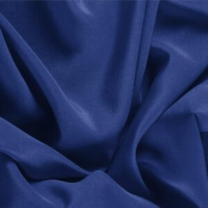Zaffiro Blue Silk Crêpe de Chine Plain fabric for Dress, Shirt, Underwear.