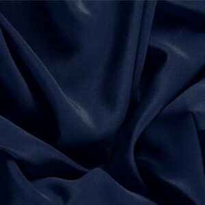Navy Blue Silk Crêpe de Chine Plain fabric for Dress, Shirt, Underwear.