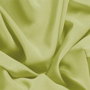 Acid Green Silk Crêpe de Chine Plain fabric for Dress, Shirt, Underwear.