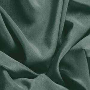 Pine Green Silk Crêpe de Chine Plain fabric for Dress, Shirt, Underwear.