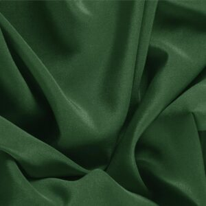 Abete Green Silk Crêpe de Chine Plain fabric for Dress, Shirt, Underwear.