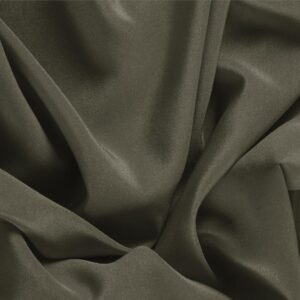 Militare Green Silk Crêpe de Chine Plain fabric for Dress, Shirt, Underwear.