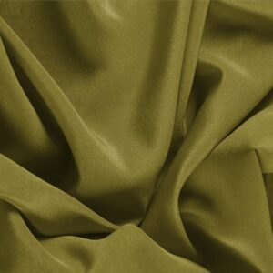 Foglia Green Silk Crêpe de Chine Plain fabric for Dress, Shirt, Underwear.