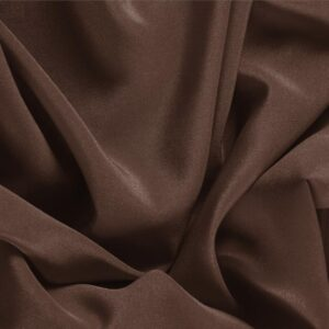 Testa Di Moro Brown Silk Crêpe de Chine Plain fabric for Dress, Shirt, Underwear.