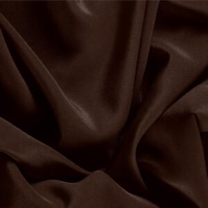 Cofee Brown Silk Crêpe de Chine Plain fabric for Dress, Shirt, Underwear.