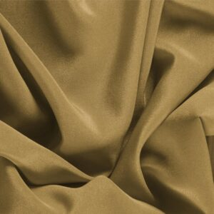 Miele Brown Silk Crêpe de Chine Plain fabric for Dress, Shirt, Underwear.