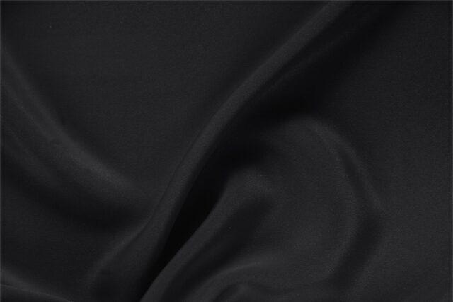 Black Silk Cady fabric for dressmaking