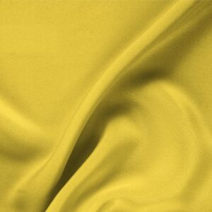 Primula Yellow Silk Drap Plain fabric for Ceremony Dress, Dress, Jacket, Pants, Skirt.
