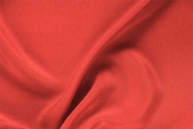 Geranium Pink Silk Drap Plain fabric for Ceremony Dress, Dress, Jacket, Pants, Skirt.