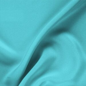 Onda Blue Silk Drap Plain fabric for Ceremony Dress, Dress, Jacket, Pants, Skirt.