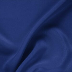 Zaffiro Blue Silk Drap Plain fabric for Ceremony Dress, Dress, Jacket, Pants, Skirt.