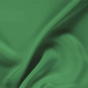 Smeraldo Green Silk Drap Plain fabric for Ceremony Dress, Dress, Jacket, Pants, Skirt.