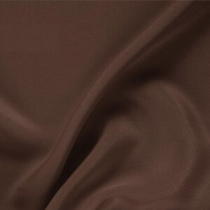 Testa Di Moro Brown Silk Drap Plain fabric for Ceremony Dress, Dress, Jacket, Pants, Skirt.