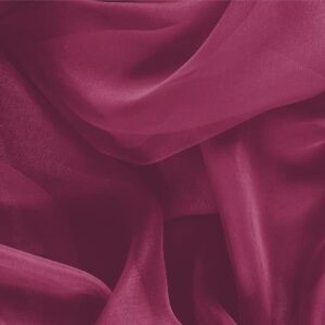 Cerise Purple Silk Chiffon Plain fabric for Ceremony Dress, Dress, Party dress, Shirt.