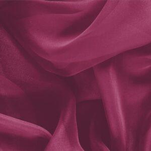 Tissu Uni Chiffon Violet Cerise en Soie pour Chemise, Robe, Robe de cérémonie, Robe de soirée.