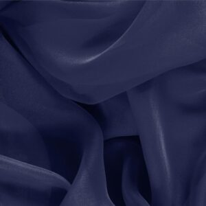 Marine Blue Silk Chiffon Plain fabric for Ceremony Dress, Dress, Party dress, Shirt.