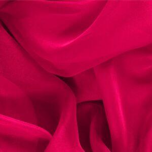 Tissu Uni Chiffon Fuchsia en Soie pour Chemise, Robe, Robe de cérémonie, Robe de soirée.