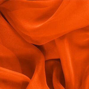 Coral Orange Silk Chiffon Plain fabric for Ceremony Dress, Dress, Party dress, Shirt.