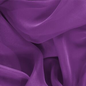Ametista Purple Silk Chiffon Plain fabric for Ceremony Dress, Dress, Party dress, Shirt.