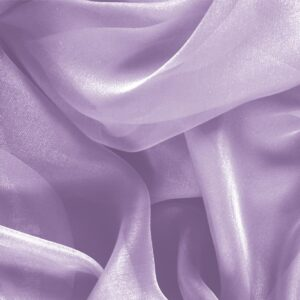 Lilla Purple Silk Chiffon Plain fabric for Ceremony Dress, Dress, Party dress, Shirt, Wedding dress.