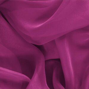 Tessuto Unito Chiffon Viola Iris in Seta per Abito, Abito da Cerimonia, Abito da Sera, Camicia.