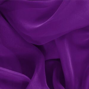 Mirtillo Purple Silk Chiffon Plain fabric for Ceremony Dress, Dress, Party dress, Shirt.