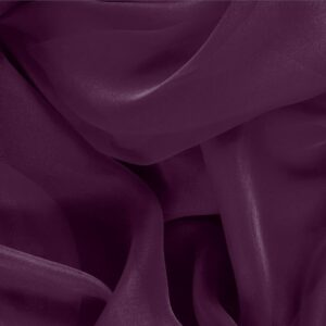 Prugna Purple Silk Chiffon Plain fabric for Ceremony Dress, Dress, Party dress, Shirt.