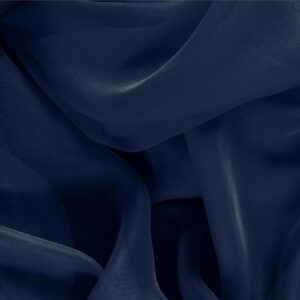 Navy Blue Silk Chiffon Plain fabric for Ceremony Dress, Dress, Party dress, Shirt.