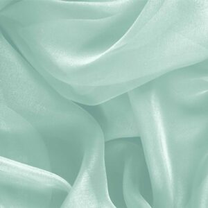 Clorofilla Green Silk Chiffon Plain fabric for Ceremony Dress, Dress, Party dress, Shirt, Wedding dress.