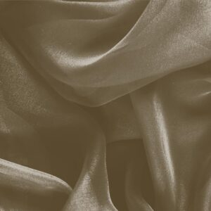 Corteccia Brown Silk Chiffon Plain fabric for Ceremony Dress, Dress, Party dress, Shirt.