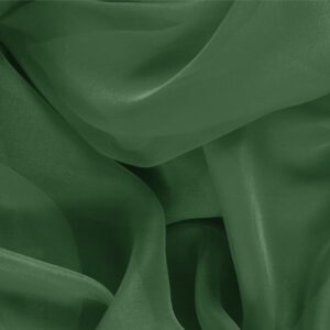 Abete Green Silk Chiffon Plain fabric for Ceremony Dress, Dress, Party dress, Shirt.