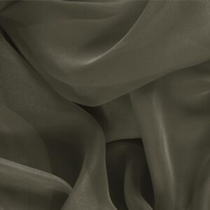 Militare Green Silk Chiffon Plain fabric for Ceremony Dress, Dress, Party dress, Shirt.