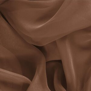 Noce Brown Silk Chiffon Plain fabric for Ceremony Dress, Dress, Party dress, Shirt.